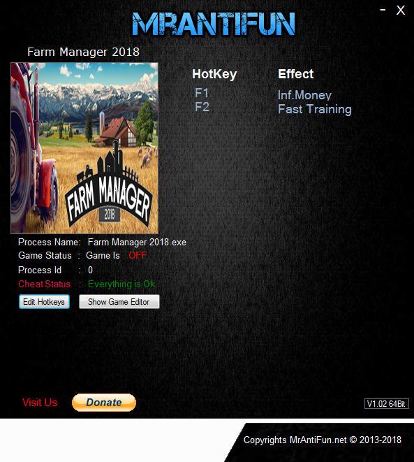 ترینر بازی Farm Manager 2018