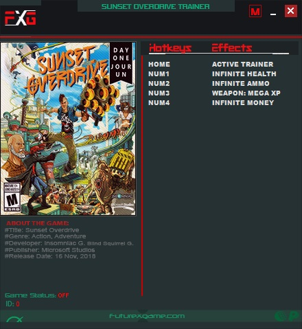 Sunset Overdrive Trainer +4 v1.0 FutureX
