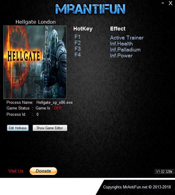 Hellgate London V2.1.0.4 Trainer +3 MrAntiFun