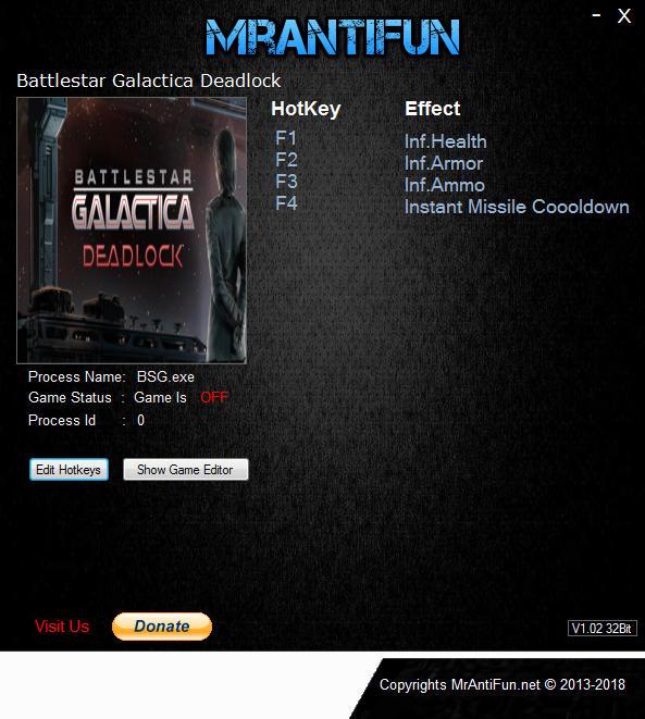 Battlestar Galactica Deadlock V1.1.54 Trainer +4 MrAntiFun