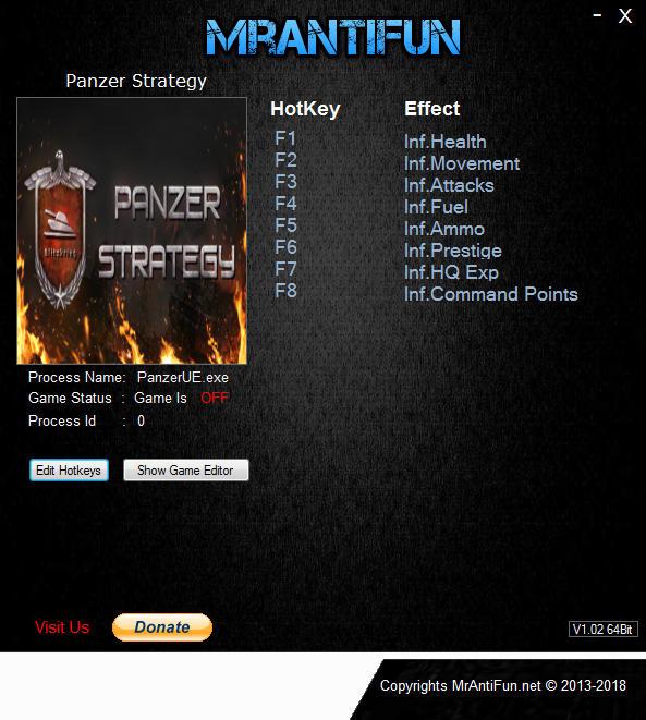 Panzer Strategy V02.12.2018 Trainer +8 MrAntiFun