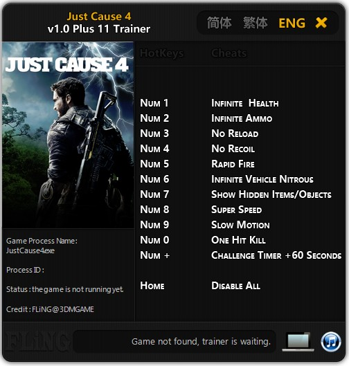 Just Cause 4 Trainer +11 v1.0 FLiNG